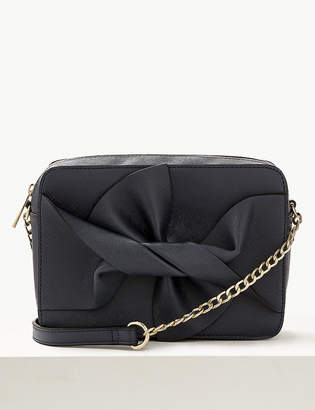 M&S CollectionMarks and Spencer Faux Leather Bow Cross Body Bag