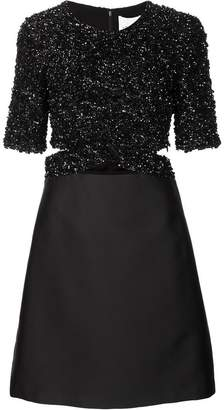 3.1 Phillip Lim sequin top satin dress