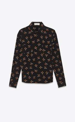 Saint Laurent Shirt In Crepe De Chine With A Mickey Mouse Print