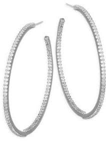 Kate Spade Crystal Hoop Earrings