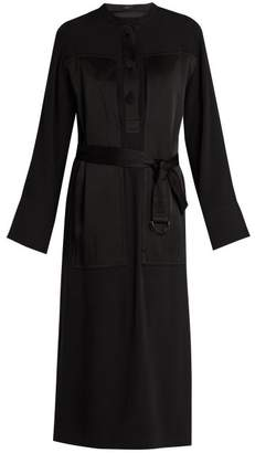 Joseph Fort Crepe Dress - Womens - Black