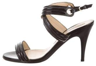 Fratelli Rossetti High-Heel Patent Leather Sandals