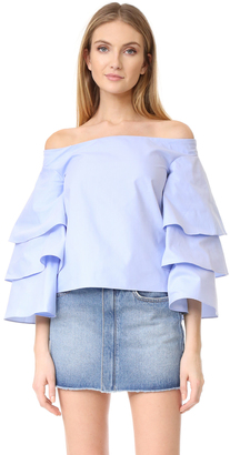 endless rose Three Layers Sleeve Top $80 thestylecure.com