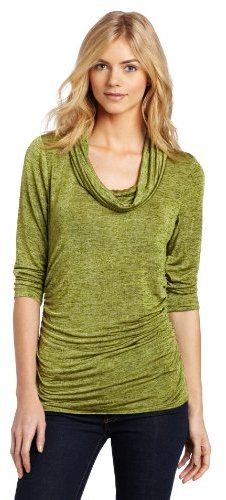Chaus Women's 3/4 Sleeve Jaspe Cowl Neck Top
