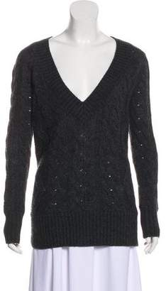 Vince Long Sleeve Cable Knit Sweater