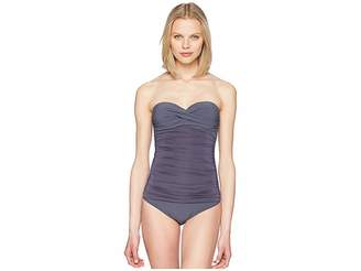 Heidi Klein Cannes Ruched Bandeau Control One-Piece Women's Swimsuits One Piece