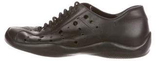 Prada Sport Leather Cutout Sneakers