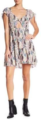 Free People Miss Right Floral Mini Dress