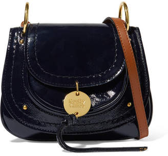 See by Chloe Susie Mini Patent-leather Shoulder Bag - Midnight blue