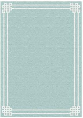 Pottery Barn Emilia Custom Tufted Rug - Porcelain Blue