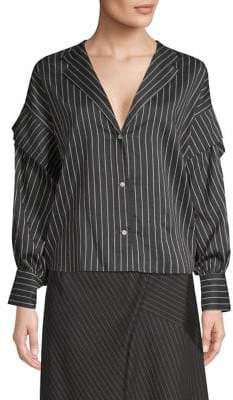 Robert Rodriguez Pinstripe Button-Up Shirt