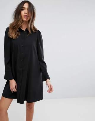 Asos DESIGN long sleeve shirt mini dress
