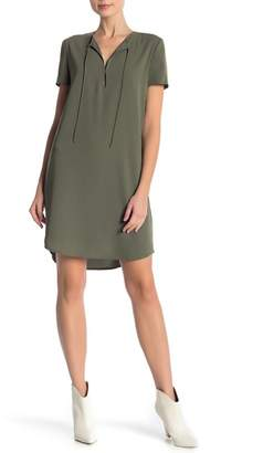 Theory Antazie Tie Front Shift Dress