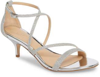 0e4a9ae81f0 Badgley Mischka Gal Glitter Kitten Heel Sandal