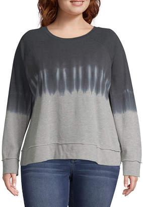 A.N.A Long Sleeve Tie Dye Sweatshirt - Plus