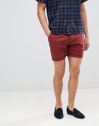 Process Black Peached Cotton Chino Shorts