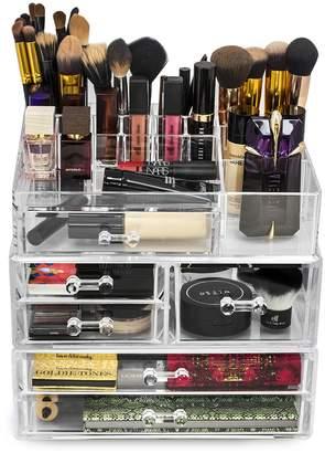 Sorbus Acrylic 3 Level Cosmetics Makeup & Jewelry Storage Case Display Set