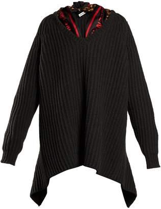 Balenciaga Scarf-detail ribbed sweater