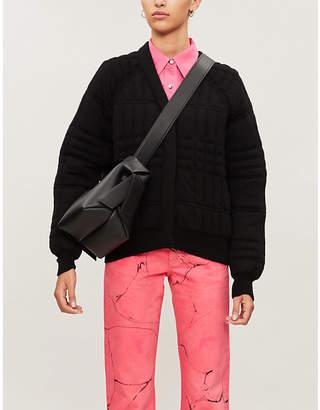 Barrie Checked V-neck cashmere jacket