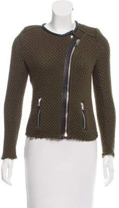 IRO Miali Leather-Trimmed Jacket