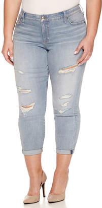 Boutique + + Denim 27 Ripped Ankle Jeans - Plus