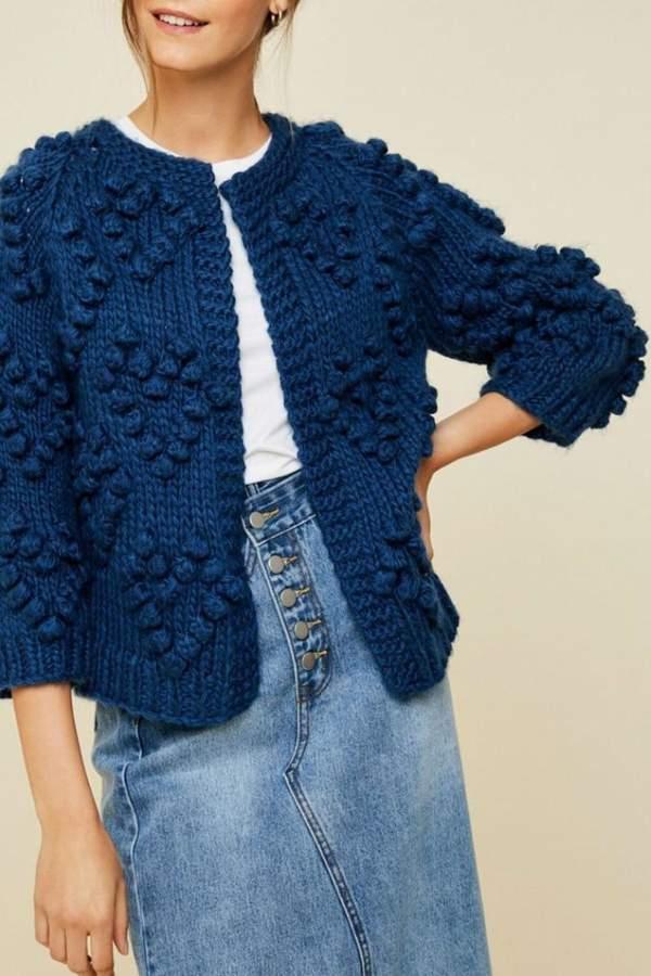 Hayden Los Angeles Chunky Pompom Sweater