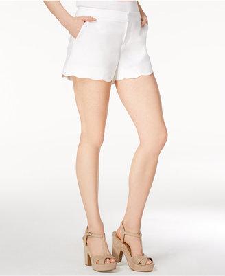 Maison Jules Cotton Scallop-Hem Shorts, Created for Macy's $44.50 thestylecure.com