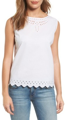 Women's Tommy Bahama Cotton Eyelet Top $78 thestylecure.com