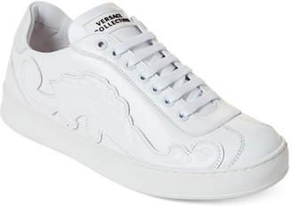 Versace Applique Leather Low-Top Sneakers