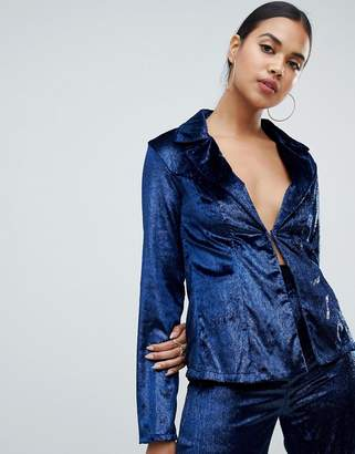 Club L metallic velvet blazer