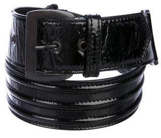 CNC Costume National Patent Leather Waist Belt
