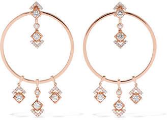 Messika - My Soul 18-karat Rose Gold Diamond Earrings