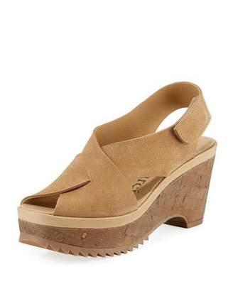 Pedro Garcia Fayre Platform Cork-Wedge Sandals