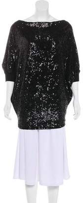 Tory Burch Sequined Batwing Top