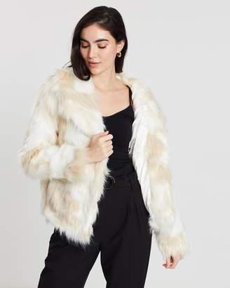 Miss Selfridge Shaggy Faux Fur Coat