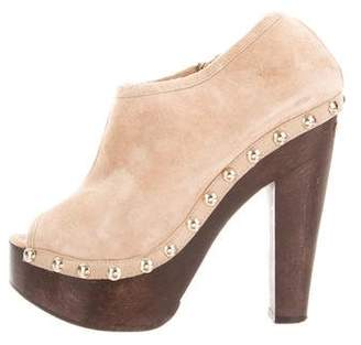 671c1a84d9caf Pre-Owned at TheRealReal · Jimmy Choo Suede Peep-Toe Booties