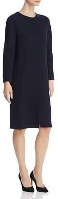 Emporio Armani Double Crepe Wool Dress Coat