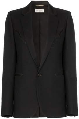 Saint Laurent blazer with leather trims