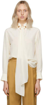 Chloé Off-White Crepe De Chine Blouse