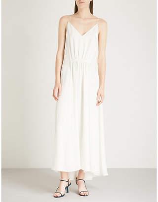 Theory Tie-waist silk maxi dress