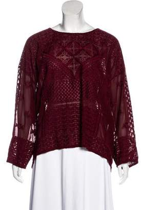 Isabel Marant Oversize Embroidered Top