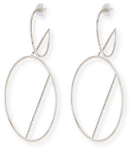 Lana 14k Double-Wire Eclipse Hoop Earrings