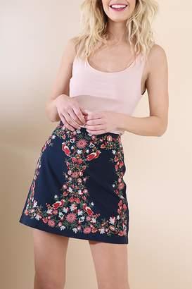 Umgee USA Embroidered Mini Skirt