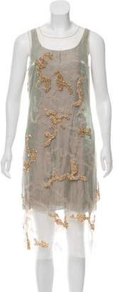 Maiyet Embellished Sleeveless Mini Dress