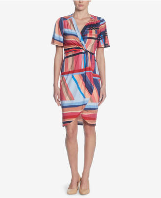 Catherine Malandrino Nyla Printed Faux-Wrap Dress
