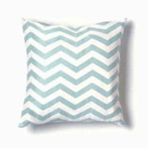 Twinkle Living Zigzag Seafoam/White Throw Pillow