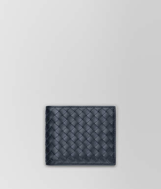 Bottega Veneta LIGHT TOURMALINE INTRECCIATO BI-FOLD WALLET