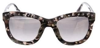 Diane von Furstenberg Embellished Mirrored Sunglasses