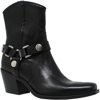 Charles by Charles David Charles David Chunky Heel Strap Leather Booties- Polo