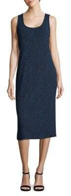 Kensie Ribbed Scoopneck Midi Dress